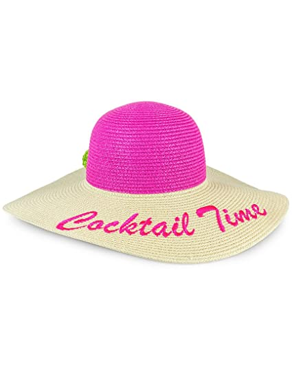 8cd52ff613e MAGID Women s Cocktail Time Floppy Straw Sun Hat