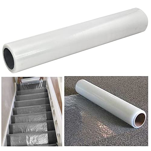 Kenley Self Adhesive Carpet Floor Stairs Protection Film - Heavy Duty Puncture & Water Resistant - 60cm x 100m Roll