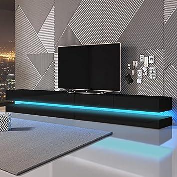 Aviator Double Le Meuble Tv Suspendu 280 Cm Noir Matnoir