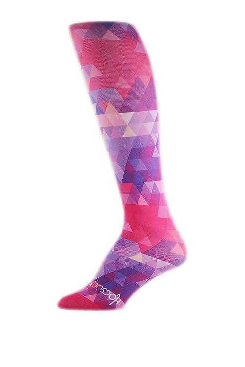 Hocsocx - Calcetines para poner debajo de las espinilleras, para mujeres, Pink Kaleidoscope,