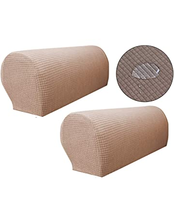 Zuodu Spandex Waterproof Sofa Arm Covers Stretch Arm Caps for Armchairs Non  Slip Pair of Furniture f732eaf0d4