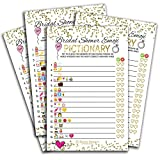50 Sheets Emoji Pictionary Bridal Shower Games,Wedding Shower, Bachelorette - or Engagement Party for Men and Women, Couples | Funny Board Kit Bundle Set, Coed Adult Game Cards for Bride to be Part