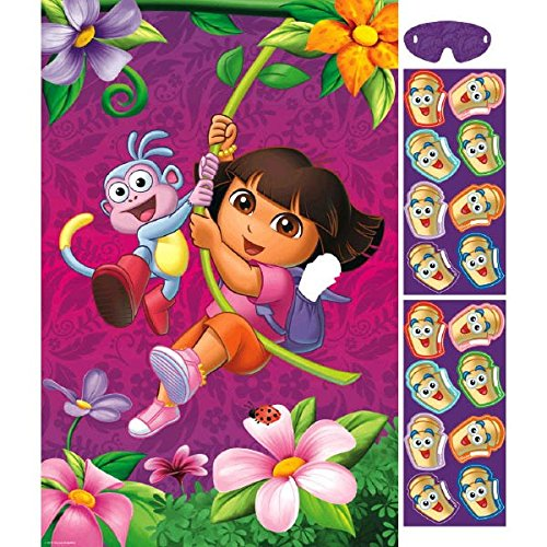 Amscan Colorful Dora's Flower Adventure Birthday Party Game Activity (1 Piece), 37 1/2