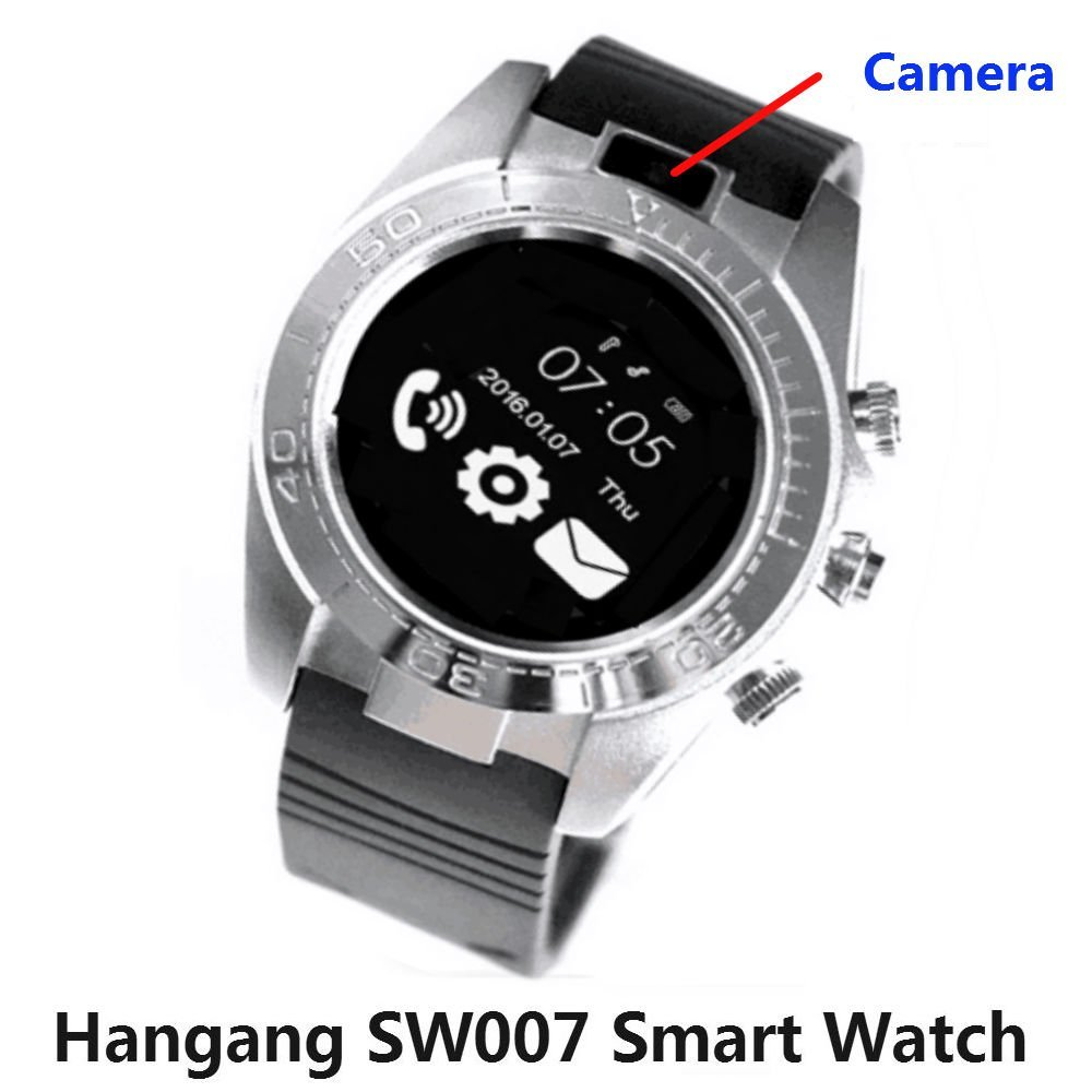 Hangang Touch Screen Clock phone Smart Watch Bluetooth Sport Smartwatch Men Hands-free telephone Android IOS Camera Wearable Sim TF card ios ...