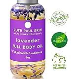 Healthy Skin Full Body Oil & Daily Facial Moisturizer. Quick Dry Oil For Normal Dry & Sensitive Skin Hair Nails. Coconut Sweet Almond Argan Jojoba & Organic Lavender. For Women Men Kids Baby 4floz