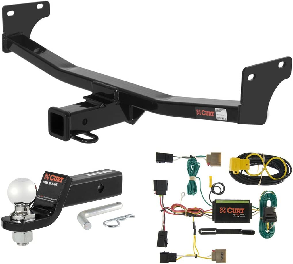 1-1//4-Inch Receiver Select Jeep Compass Patriot CURT 122553 Class 2 Trailer Hitch with Ball Mount