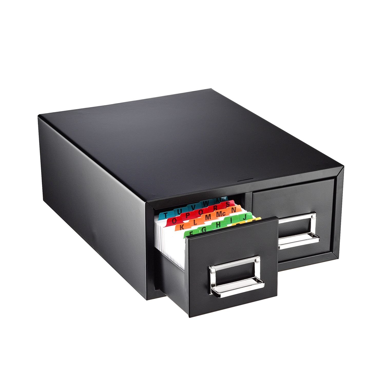 Amazon.com : SteelMaster 263F4616DBLA Drawer Card Cabinet Holds 3, 000 4 X  6 Cards, 14 1/2 X 16 X 6 1/4 : Index Card Files : Office Products