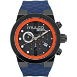 MULCO Unisex Couture Analog Display Swiss Quartz Watch - Silicone Band Multifunctional Stainless Steel