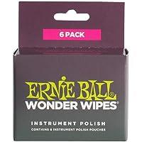 Ernie Ball P04278 Wonder Wipes Instrument Polish, 6-Piece, 6 Pieces