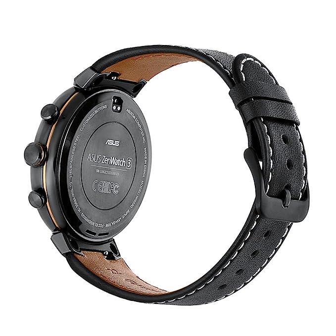 Loveblue para Asus banda de reemplazo de correa de reloj banda Crazy Horse de piel auténtica, Asus Zen watch3 banda correa de piel pulsera para Crazy ...