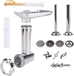 Metal Meat Food Grinder Attachment for KitchenAid Stand Mixers Compatible with All KitchenAid Stand Mixer