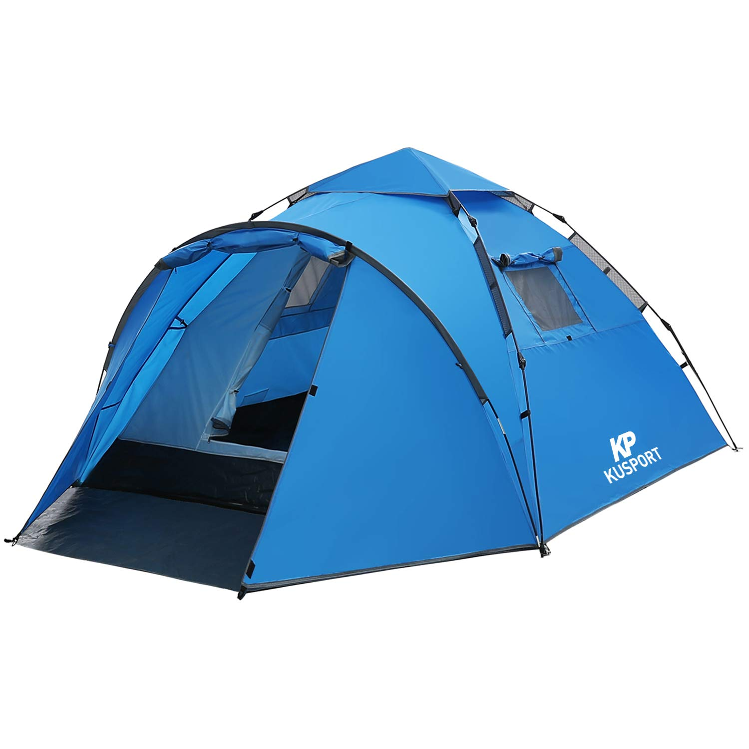 Kusport ZP05, 2-3 Person Rainproof Automatic Hydraulic Backpack Tent for Camping Outdoor Beach Hiking Travel, Blue