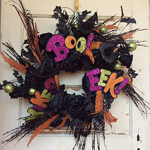 AGD Halloween Decor - Black Roses Boo Eek