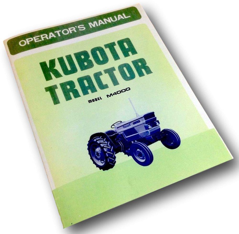 kubota tractor wiring diagrams opc amazon com kubota m4000 tractor operators owners manual diesel  kubota m4000 tractor operators