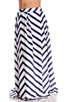LOLLI COUTURE STRIPED MAXI SKIRT