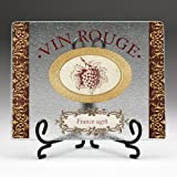 Highland Graphics- Vin Rouge ClearCut w/Metal Easel