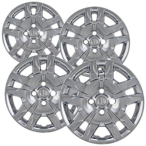16 inch Hubcaps Best for 2010-2017 Nissan Sentra - (Set of 4) Wheel Covers 16in Hub Caps Chrome Rim Cover - Car Accessories for 16 inch Wheels - Snap On Hubcap, Auto Tire Replacement Exterior Cap