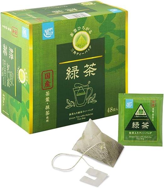 [Amazonブランド]Happy Belly 伊藤園 国産 宇治抹茶入り緑茶ティーバッグ 48袋