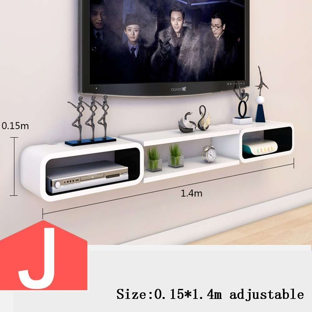 HOMEE Tv Cabinet Set - Top Box Shelves Wall Box Living Room Wall Wall Decoration Bedroom Partitions Decorative Racks (Multiple Styles Available),J