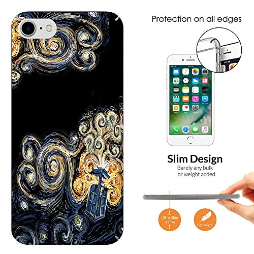 452 - doctor who tardis van gogh canvas Design iphone 6 / 6S 4.7'' Hülle Fashion Trend Case Back Cover Metall und Kunststoff