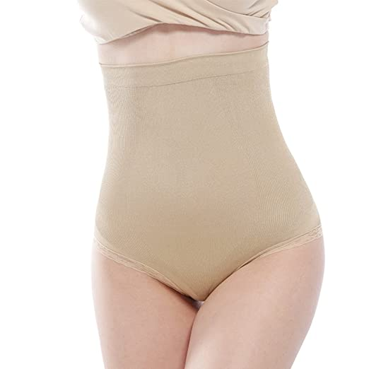7e6be99179d8e QINREN Womens Shapewear Panties Bodysuit Body Shaper High Waist Tummy  Control Seamless Strapless Slimming Panty Briefs at Amazon Women s Clothing  store