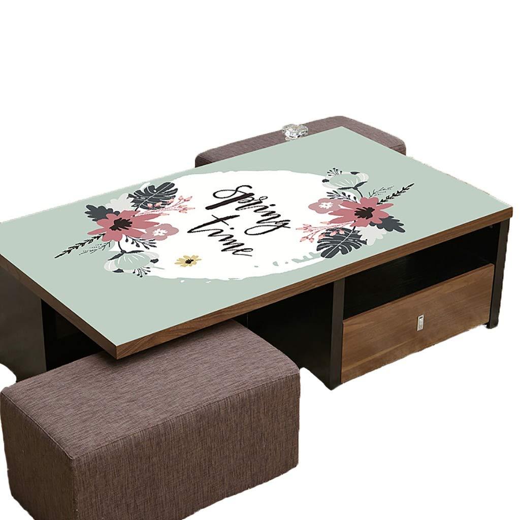 テーブルクロスソフトガラスPVC 90x140cm防水アンチホットアンチオイル簡単クリーンテーブルプロテクターコーヒーティーテーブルマットプラスチックテーブルクロス (サイズ さいず : 90x160cm) 90x160cm  B07S4L8QRR