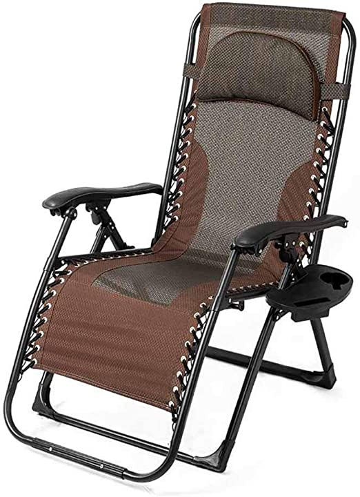 Sillón reclinable Plegable Sillas de relajación Tumbonas Césped de Gravedad Cero Sillas Jardín Exterior Ajustable: Amazon.es: Hogar