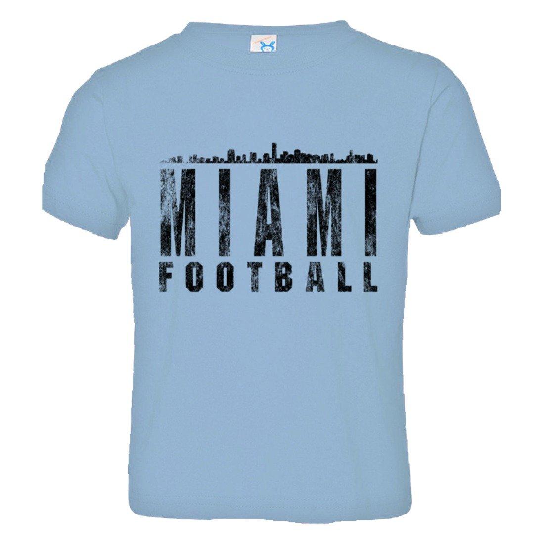 PleaseMeTees Toddler Miami Football Skyline Sports Distressed HQ Tee Shirt