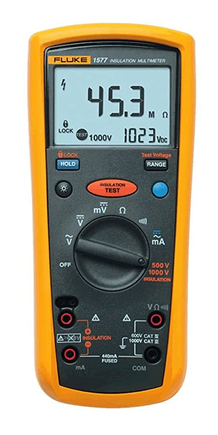 fluke 1577 insulation multimeter lcd display 600 megaohm rh amazon com Fluke 1587 Insulation Tester Fluke 1587 Specifications