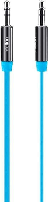 Belkin AV10127tt03-BLU MiXiT Tangle-Free Aux / Auxiliary Cable, 3 Feet (Blue)