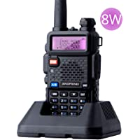 UV-5R 8W Walkie Talkie 10km Dual Band Ham Two-Way Radio VOX Flashlight Handheld Long Range Portable