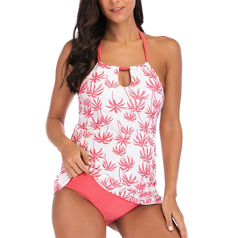 FELZ Conjunto Trajes de Ba/ño Mujer,Estampado de Flores Ba/ñador Premama Dos Piezas Ropa de Ba/ño de Bikinis para Embarazadas Traje de ba/ño Ropa de Playa Traje Embarazada Beachwear