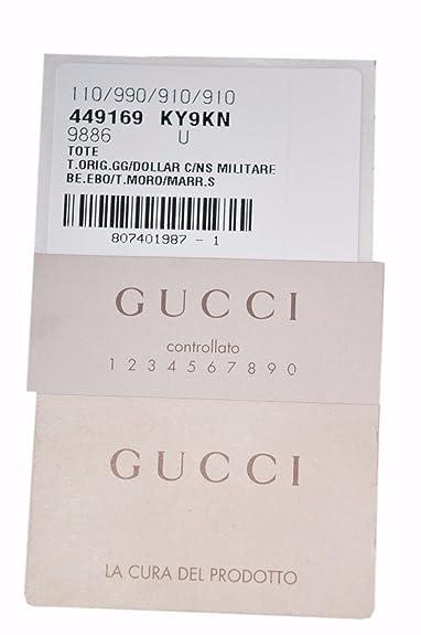 894e90d71a8 Gucci Canvas GG Guccissima Borsa Donna Large Crossbody Tote Bag  (449169 Beige)  Amazon.ca  Shoes   Handbags