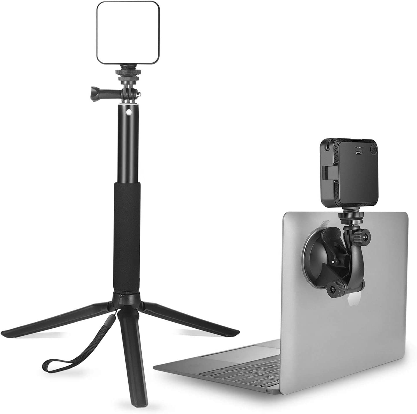 Light for Video Conferencing | Video Conference Lighting Kit with Stand Tripod | Cube Laptop Computer Webcam Light for Self Broadcast - Zoom Call Meeting - Microsoft Teams - Live Streaming