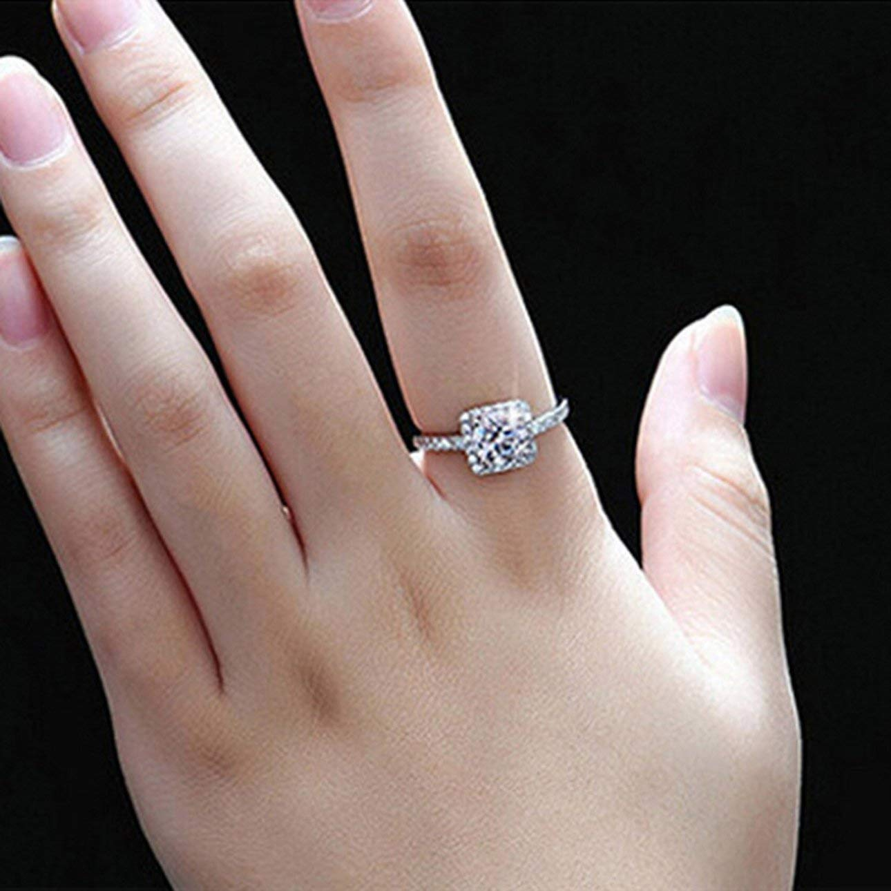 Liobaba Women Rings Female Ornament Exquisite White Sapphire Silver Plated Filled Wedding Ring Jewelry Wedding Accessories