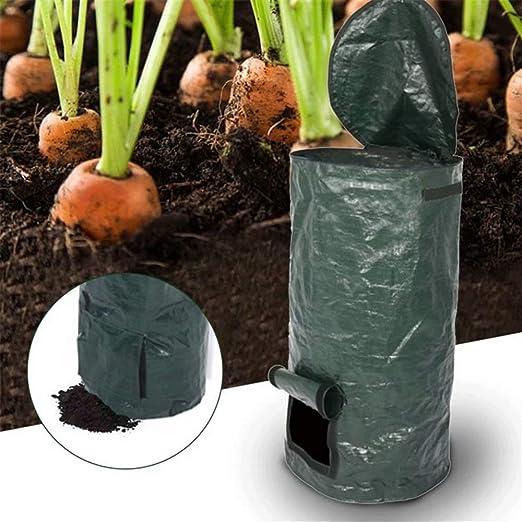 Danning Contenedor de Compost orgánico para jardín, fermentación casera Eliminación de desechos de Cocina Bolsa de Compost de PE Suministros de jardín: Amazon.es: Jardín