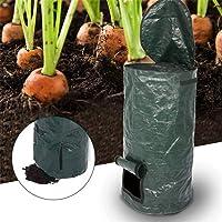 Danning Contenedor de Compost orgánico para jardín, fermentación casera Eliminación de desechos de Cocina Bolsa de Compost de PE Suministros de jardín