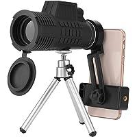 Eboxer Télescope monoculaire 50 x 60 Télescope Appareil Photo Téléphone Portable étanche Dual Focus 7,8 Champ de Vision avec Clip/Trépied pour iPhone et la Plupart des Smartphones Android