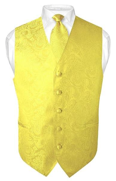 Amazon.com: Juego de corbata de cuello y chaleco para hombre ...