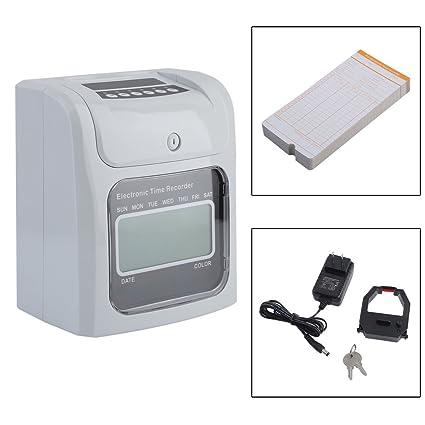 Empleado perforadora de asistencia reloj de tiempo control máquina tiempo Grabadora con 50 tarjetas para oficina