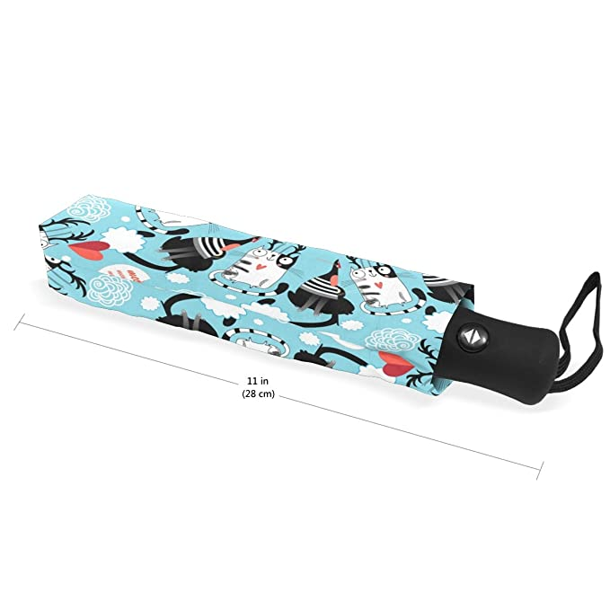 c2b1a72b5afe Aideess Outer Black Umbrella Bright Cat Lovers UV Anti Lightweight Parasol  Elegant Reverse 3 folding Drop Sturdy Umbrella Special Gifts for Business &  ...