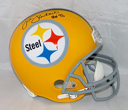 f52f71442ab Amazon.com: Jack Lambert Autographed Full Size Pittsburgh Steelers 62 TB  Helmet Black - JSA Auth: Sports Collectibles