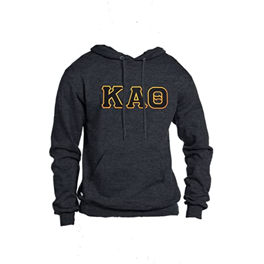 Kappa Alpha Theta Hoodie Sweatshirt With Stitched Greek Letters