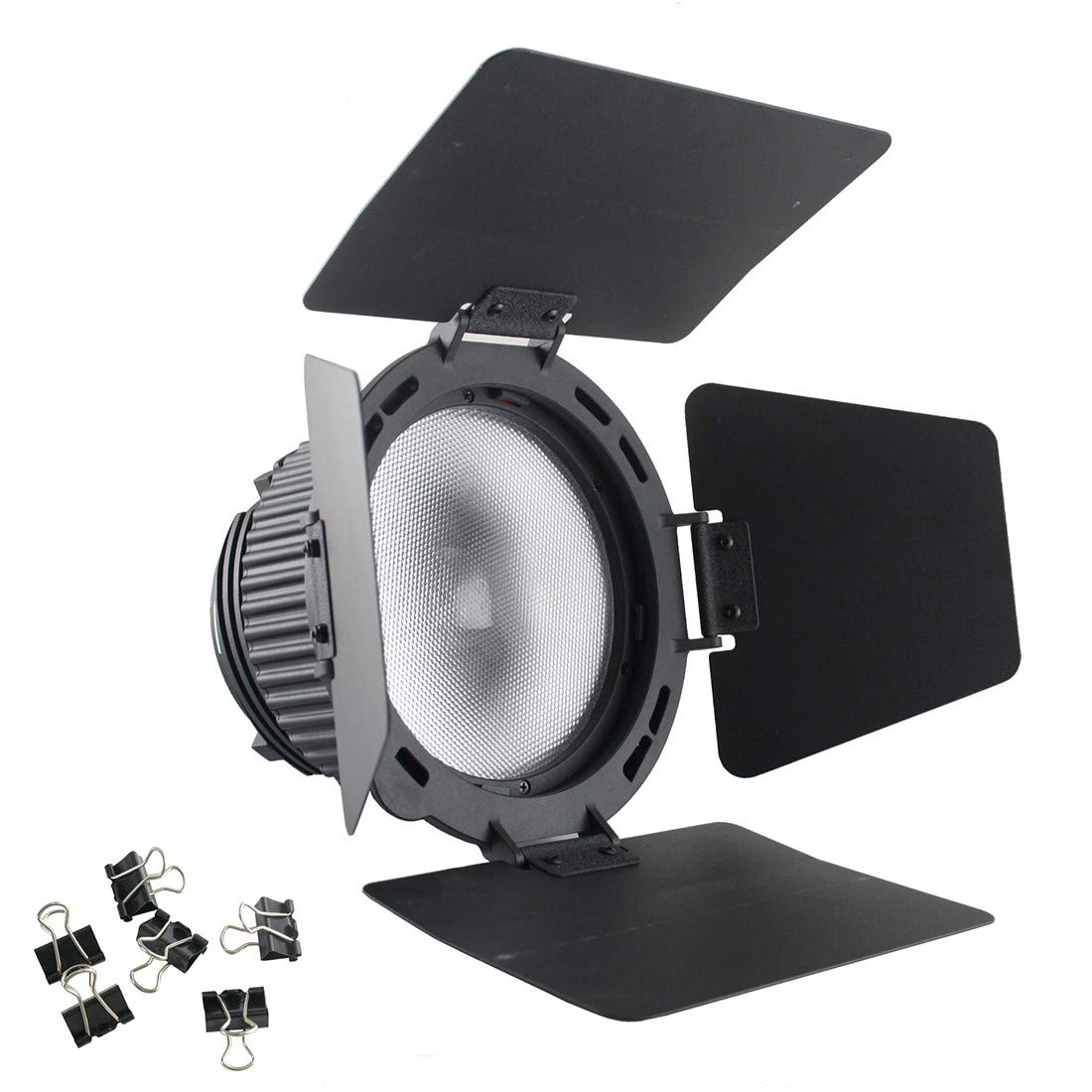 EXMAX CN-18X Fresnel Lens Focusing Adapter Lens kit Photography Studio Rotating Focusing Lens with Barn Door Compatible with Nanguang CN-P100WA Photography Bowens-fit Spotlight by EXMAX
