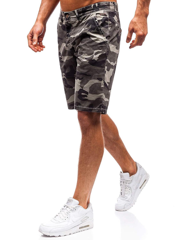 Damen Shorts Bermudas Kurzhose Fitness Army Jogging Camo Sport BOLF G7G Motiv