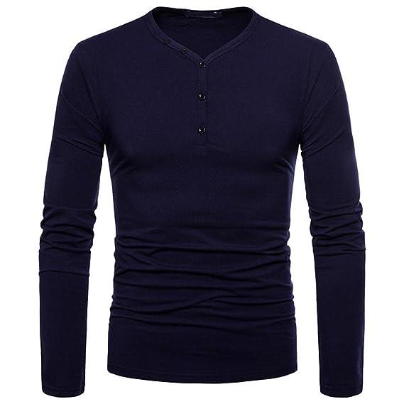 JiaMeng Suéter de Hombre Camisa de Manga Larga Casual Jersey de Punto Caliente Camisetas Hombre Slim