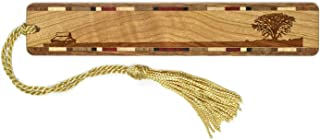 product image for Lone Tree - Prairie - Engraved Wooden Bookmark on Cherry with Tassel
