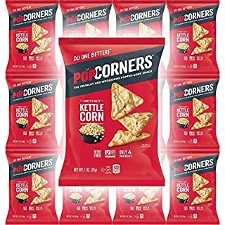 Popcorners Sweet & Salty Kettle Corn, Carnival Kettle Crispy and Crunchy Popped Corn Chips, Gluten-Free, 1oz Bag (Pack of 12, Total of 12 Oz), Set of 2