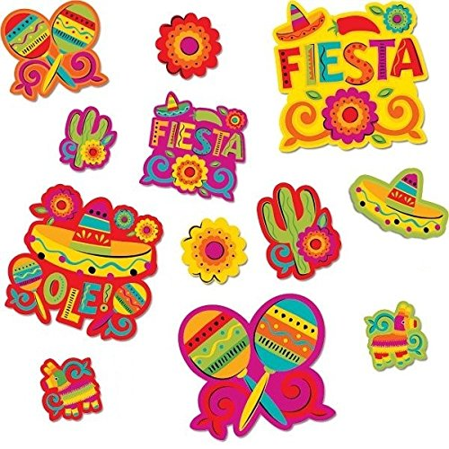 Hot Amscan Cinco De Mayo Fiesta Assorted Cutouts Value Pack Decorations (30 Piece), Multi Color, 14.1 x 12.5 hot sale