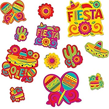 amazon com amscan cinco de mayo fiesta assorted cutouts value pack